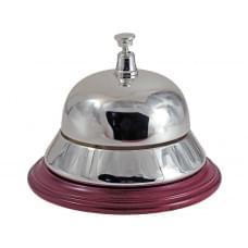 Настольный звонок для совещаний, серебристый/красное дерево