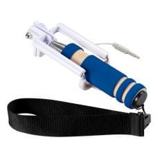 Мини селфи палка со шнурочком, ярко-синий