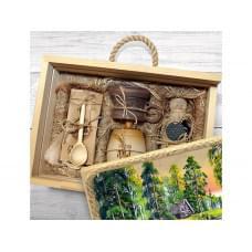Подарочный набор Лесная пасека, бежевый