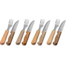Набор Jumbo из 8 столовых приборов, коричневый