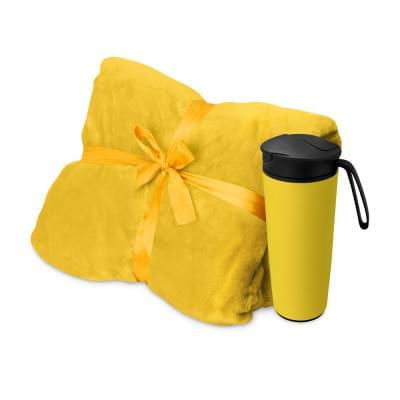 Купить Подарочный набор с пледом, термокружкой Dreamy hygge, желтый за 1803р. Доставка по всей стране