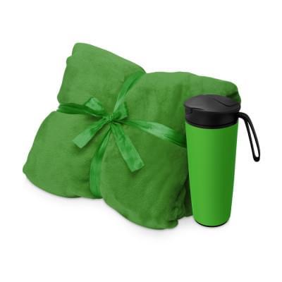 Купить Подарочный набор с пледом, термокружкой Dreamy hygge, зеленый за 1803р. Доставка по всей стране