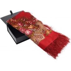 Павловопосадский платок, красный