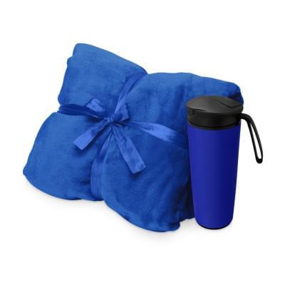 Купить Подарочный набор с пледом, термокружкой Dreamy hygge, синий за 1803р. Доставка по всей стране