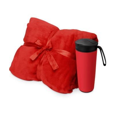 Купить Подарочный набор с пледом, термокружкой Dreamy hygge, красный за 1803р. Доставка по всей стране