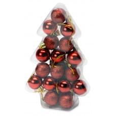 Набор новогодних шаров в футляре-елочке
